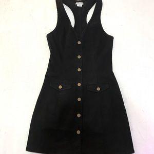Cooperative Black Denim Button Up Dress XS